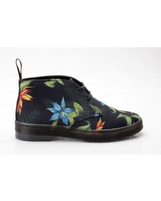 Dr. Martens Daytona Schwarz Hawaiian Floral Blumen Docs Air Wair