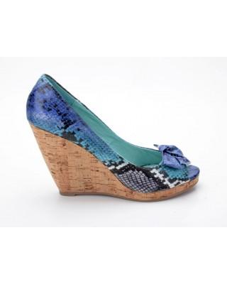 Buffalo 111-3391 Snake Fabric blau