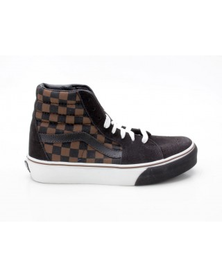 Vans Sk8-Hi VN-0 D5I27F Checkerboard S braun-schwarz