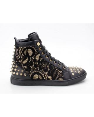 Philipp Plein FW14 SW153085 Sneaker Celebration schwarz-gold