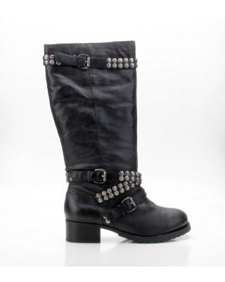Buffalo 410-197-1 Derby Leather schwarz