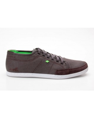 Boxfresh Sparko CNVS dark brown/lime dunkelbraun-grün E-BFM0095BCK