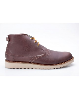 Lacoste Farmington SRM DK BRW Leather dunkelbraun Winterboots Gr. 45
