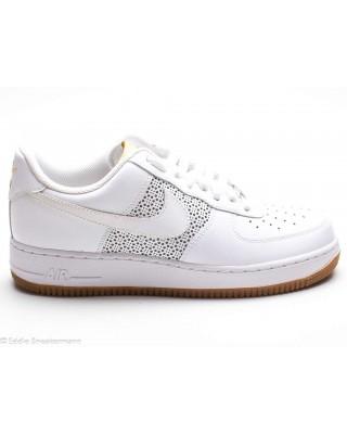 Nike Air Force 1 low weiß gold gummibraun 315122 992