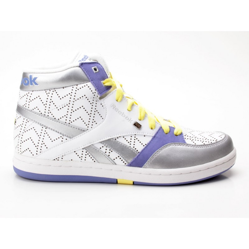 official photos 67c87 720f4 Reebok Courtee MID 32-269530 weiß-silber-lila - Sneaker mid ...
