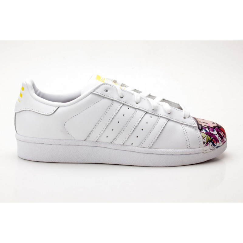 Adidas Superstar Pharrell Supersh S83354 weiß gelb Sneaker