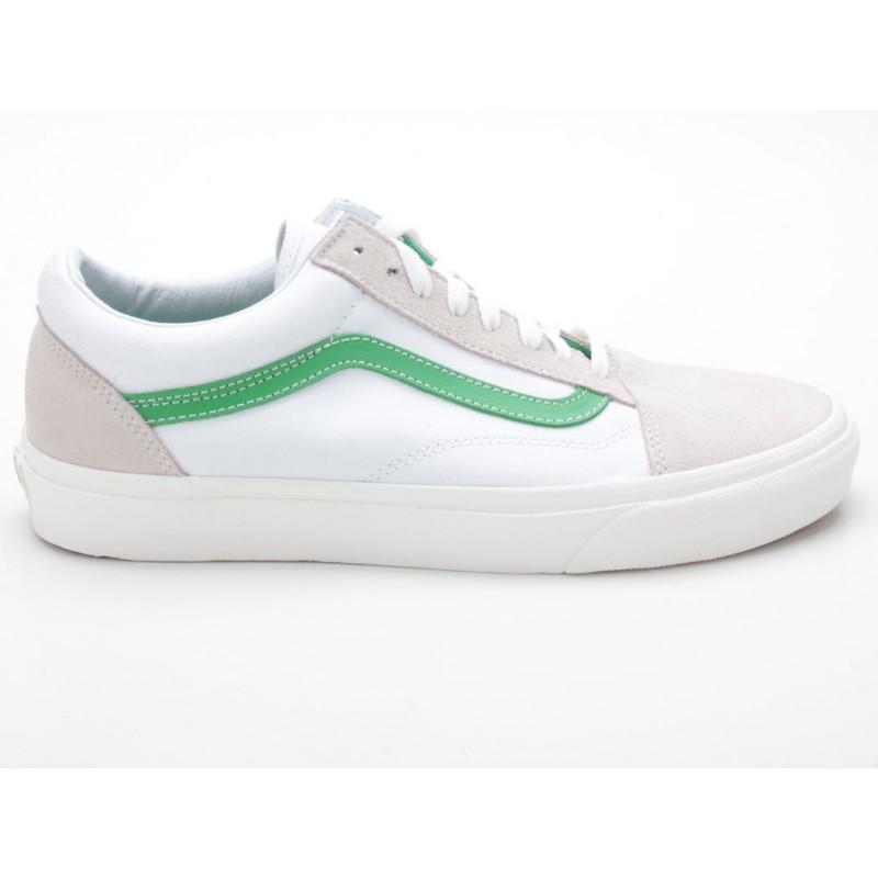vans old skool weiß beige grün