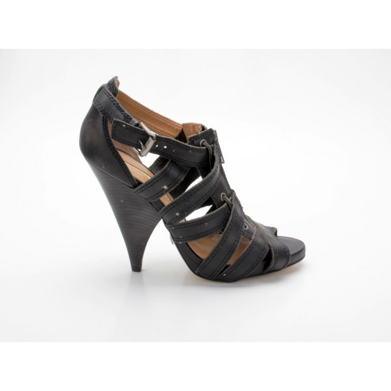 Cromo High Heels Frauen Buffalo Semi 14339 Schwarz Schuhe 565 MqSUzpGV