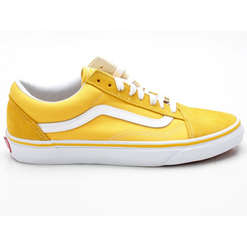 Vans Old Skool Suede / Canvas VN0A38G1MWH gelb - Sneaker low ...