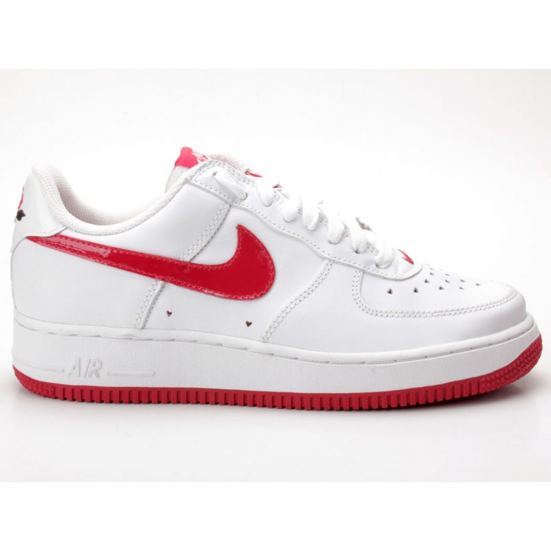 Nike Air Force 1 weiß-rot 307109 165 Gr. 40,5 - Sneaker low - Frauen ...