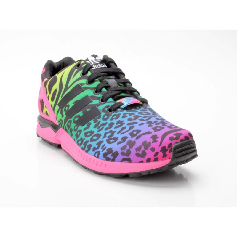 adidas zx flux b32740 pink bunt sneaker low frauen schuhe. Black Bedroom Furniture Sets. Home Design Ideas