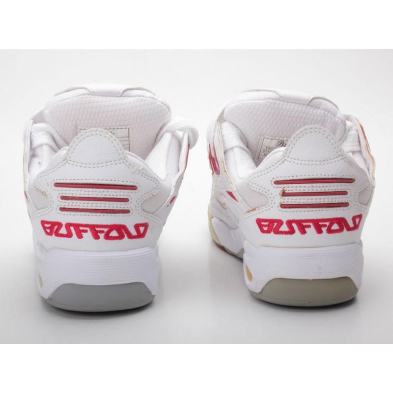 Buffalo 1737 36 weiß rot Gr. 37 Skaterschuhe Sneaker low