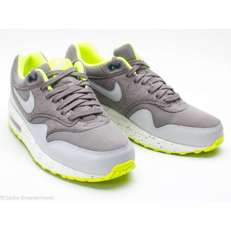 Nike Air Max 1 grau neon grün 319986 027 Sneaker low