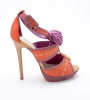 Buffalo 16765-663 Semi Cromo Kid Suede orange-lila