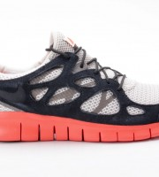 Nike Free Run 2 EXT 55174 008 beige schwarz orange