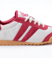 Dunlop Front Trainer Suede Mesh Rubber rot grau