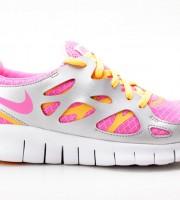 Nike Free Run 2 (GS) pink-orange-silber 477701 600