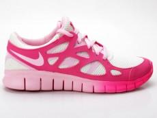 Nike WMNS Free Run 2 EXT 536746 101 weiß-pink