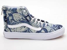 Vans Sk8-Hi Slim Zip VN000XH8IEJ Indigo Tropical blau-weiß