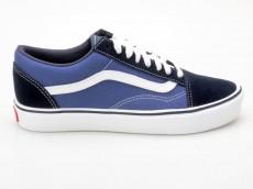 Vans Old Skool Lite + VN0004O6IVF Suede/Canvas blau-weiß