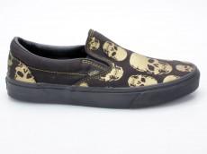 Vans Classic Slip-On VN-0 EYEAVA Multi Skull schwarz-gold