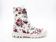 Palladium Pallabrouse BGY FLWR 93417-917-M weiß Blumen