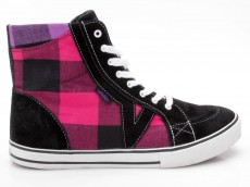 Vans Tory Hi VN-0 HJ23ST Buff Plaid schwarz-pink