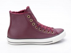 Converse Chuck Taylor All Star CTAS Winter Knit Fur Hi 553366C rot-weiß