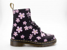 Dr. Martens Doc Martens 8-Loch Page Meadow schwarz Canvas Flowers T Canvas Docs Air Wair