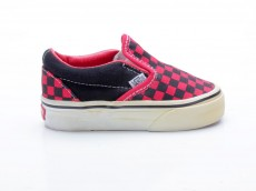 Vans Classic Slip-On Small Checkerboard 5519971 schwarz-rot
