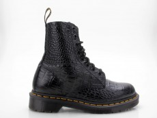Dr. Martens Doc Martens 8-Loch Pascal Croc New Vibrance Croco Leder schwarz Docs Air Wair