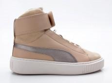 Puma Basket Platform Mid Up WN's 364952 01 beige-silber