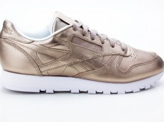 Reebok CL LTHR Melted Metal Women BS7898 grau-gold-weiß