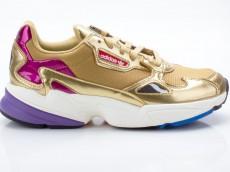 Adidas Falcon W CG6247 Damen Sneaker Turnschuhe Sportschuhe gold-weiß