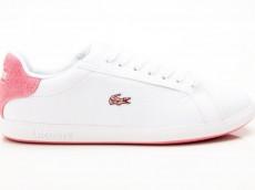 Lacoste Graduate 319 SFA Damen Sneaker LTH / SYN weiß-pink