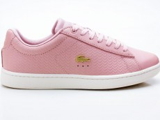 Lacoste Carnaby EVO 119 3 SFA Damen Sneaker Leather rosa-weiß