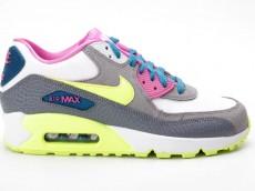 Nike Air Max 90 2007 GS 345017 119 weiß grau pink gelb