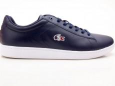 Lacoste Carnaby EVO 119 7 SMA Herren Sneaker Leather blau-weiß-rot