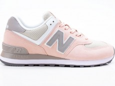 New Balance WL574NDA Damen Freizeit Turnschuhe 738821-50-123 grau-pink
