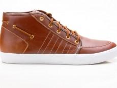 Adidas Court Deck Vulc Mid V24028 Herren Sneaker braun-weiß