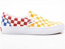 Vans Classic Slip-On Checkerboard VN0A38F7VLV1 gelb-rot-blau-weiß
