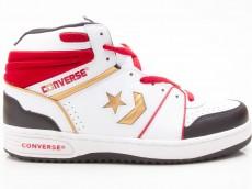 Converse Pro Team Hi Herren Sneaker 1Q254 weiß-schwarz-gold-rot
