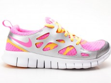 Nike Free Run 2 (GS) pink-orange-silber 477701 600